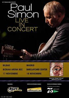 PAUL SIMON | Bizkaia Arena, BEC, Barakaldo, 17/XI/2016 | Cartel | GALERÍA completa || Full GALLERY: http://denaflows.com/galerias-de-fotos-de-conciertos/p/paul-simon/