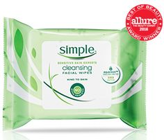 Simple Skincare Cleansing Facial Wipes refresh and nourish skin, perfect even for sensitive skin.  #GotItFree #FlawlessVoxBox #contest