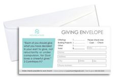 Simple Giving Envelope – Looking to upgrade the design of your current offering envelope? Download this easy to use Photoshop template and update it with your own church information and logo. Offering envelopes are great for churches or non-profit small organizations. Sample logo not included.