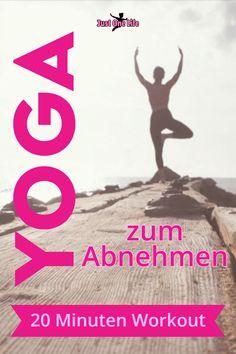 Yoga eignet sich super zum Abnehmen, weil es deinen Stoffwechsel anregt, den Stress abbaut und dein Herz-Kreislauf-System in Fahrt bringt. Du kannst gleich durchstarten mit dem 20 Minuten Workout. Egal ob du ein Yoga Anfänger bist oder schon lange Yoga praktizierst, die Yoga Übungen bringen das Fett zum Schmelzen. #yoga #yogazumabnemen #abnehmenmityoga #yogaworkout #justonelife