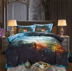 >> Click to Buy << Galaxy Bedspread With Pillow Case Outer Space Quilted Blanket Bed Cover Queen Size Comforter Bedding Set Coverlet Set  #Affiliate