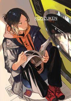 Haikyuu Manga, Manga Anime, Haikyuu Fanart, Fanarts Anime, Anime Characters, Anime Art, Kenma Kozume, Kuroken, Nishinoya