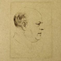 Hermann Struck - Bialik Profile Portrait, Etching, 1935 : Lot 41 Portrait, Israel, Auction, Profile, Art, User Profile, Men Portrait, Portrait Illustration, Kunst