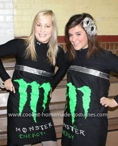 Homemade Energy Drink Costume: As Halloween came around the corner me and my best friend had no clue what we wanted to be. As we were waiting in line at an amusement park late one night,