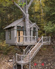 Fancy Tree House designed by Maine Home Builders<br>