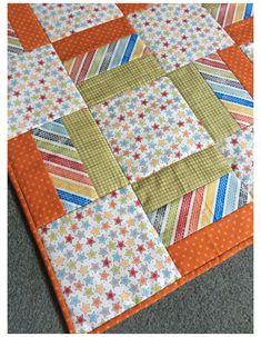 Quilt Baby, Baby Boy Quilt Patterns, Baby Patchwork Quilt, Beginner Quilt Patterns, Baby Girl Quilts, Girls Quilts, Quilt Block Patterns, Simple Quilt Pattern, Block Quilt
