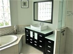 Transitional style bathroom remodel Bathroom Styling, Transitional Style, Vanity, Concept, Interiors, Elegant, Home, Dressing Tables, Classy