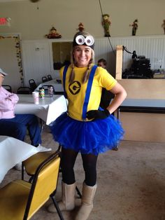 DIY Minion costume!! this is what I'm gonna go for but with yellow leg @leanne joseph @Charlotte Smyth @Lesley Harding @Amber Harding