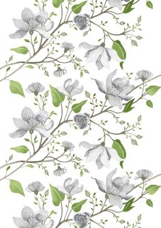 Vallila Clematis by Tanja Orsjoki Finland Cute Lockscreens, Dry Leaf, Clematis, Fabric Painting, Background Patterns, Abstract Pattern, Finland, Flower Art, Pattern Design