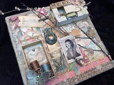 How to Create a Mixed Media Art Canvas Collage