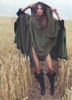 "Daria Werbowy by Inez & Vinoodh in ""Girl of the Golden Field"", Vogue Nippon November 2009"
