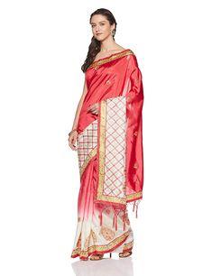 c6991f0d1a9bb Aalia Art Silk Saree With Blouse Piece (11008 Pink