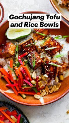 Tofu Recipes, Vegan Dinner Recipes, Asian Recipes, Healthy Recipes, Ethnic Recipes, Vegetarian Recipes, Healthy Meals, Delicious Recipes, Healthy Foods
