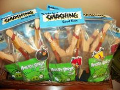 Angry bird sling shot party bags