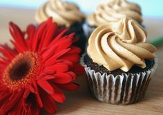 Espresso chocolate cupcakes with espresso buttercream