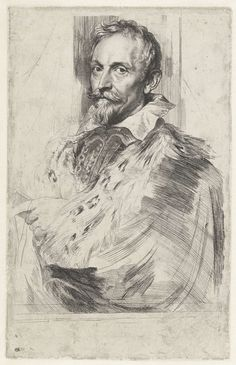 Anthony van Dyck | Portret van Jan van den Wouwer, raadsheer van aartshertog Albrecht van Oostenrijk, Anthony van Dyck, Lucas Vorsterman (I), 1630 - 1632 |