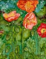 ♥ Vicki Barry Alcohol Ink Floral Art♥♥