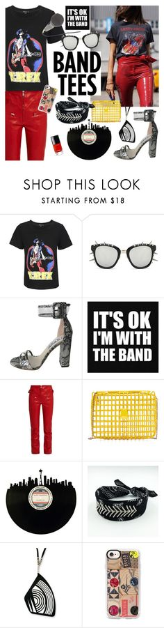 """I'm With the Band : Band Tees"" by watereverysunday ❤ liked on Polyvore featuring Isabel Marant, Anndra Neen, NOVICA, Casetify and Chanel"
