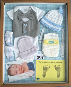 #DIY Newborn Shadow Box #Keepsake #Newborn