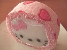 Hello kitty roll cake