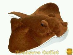 Homerbest Stuffed Plush Brown Stingray Ocean Animal 20in