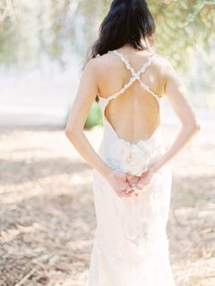 Gorgeous Claire Pettibone dress: http://www.stylemepretty.com/california-weddings/2015/03/25/romantic-redwood-inspired-shoot/ | Photography: Lucy Munoz - http://lucymunozphotography.com/