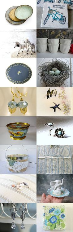 The Sky and the Soul by Lorraine Dunnington on Etsy--Pinned with TreasuryPin.com My Elephant Assemblage Jewelry Holder is featured in this lovely gathering.  Thanks so much, Untried on Etsy!