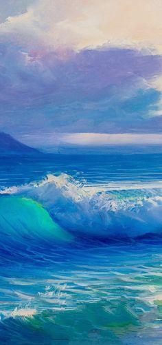 Ocean blue great wave