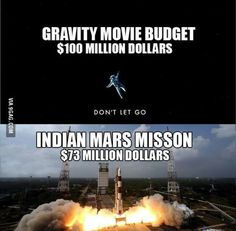 Post with 5295 votes and 222497 views. Tagged with funny, movies, gravity falls, current events; It's funny how a space mission is cheaper than a movie Memes Humor, Funny Memes, Jokes, It's Funny, Funny Stuff, Hilarious, Gravity Movie, 100 Millions, Mission To Mars