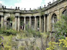Derelict ballroom-imagine its glorious past of grand balls, romantic rendezvous in the gardens and classical music.