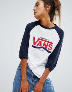 Vans Authentic - T-shirt boyfriend à manches raglan