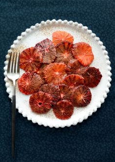 Sliced oranges with cinnamon, sugar and orange flower water are a classic Moroccan dessert.