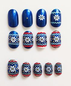Fair Isle Christmas Jumper nails Step by Step tutorial #nail #nails #nailart