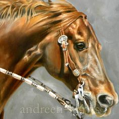 Cow Horse Running Original Oil by andreenharrisart on Etsy, $850.00
