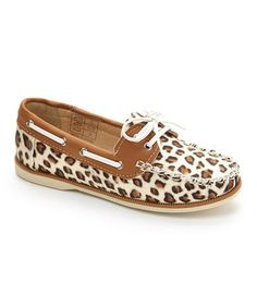 Another great find on #zulily! Leopard Boat Shoe #zulilyfinds