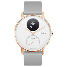 BuyNokia Steel HR Activity Tracking Watch, 36mm, Rose Gold/Grey Silicone Online at johnlewis.com