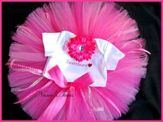3pc Sweet Heart Baby Tutu Set 1st photosBaby Shower by Nanastutus, $40.00