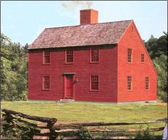 Saltbox home: These houses have a very steeped (catslide) roofline.