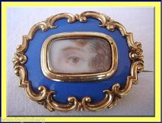 Miniature Eye Portrait Brooch Antique Georgian Gold 4399 | eBay