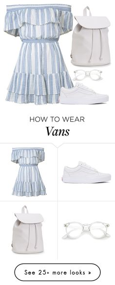 """Classy"" by fantast on Polyvore featuring LoveShackFancy, Vans and Aéropostale"