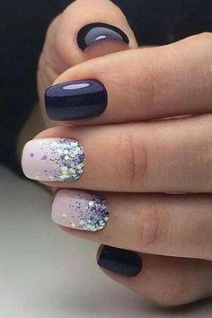 Best Winter Nails for 2017 - 67 Trending Winter Nail Designs - Best Nail Art - Gel Nails Winter Nail Designs, Winter Nail Art, Colorful Nail Designs, Acrylic Nail Designs, Winter Nails, Acrylic Nails, Cute Simple Nail Designs, Nail Ideas For Winter, Pretty Nail Designs