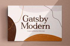 Gatsby Modern Serif ~ Fonts ~ Creative Market, typography, graphic design, web design, branding #ad