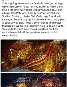 Ideas for seafood party menu crab boil Cajun Seafood Boil, Seafood Boil Recipes, Crab Boil, Seafood Appetizers, Seafood Dinner, Cajun Recipes, Cooking Recipes, Seafood Party, Seafood In A Bag