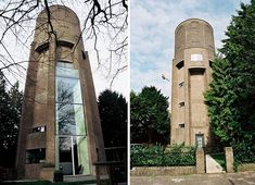 Zecc Architects Convert 1930s Water Tower Into Sleek Nine Story Home: This looming water tower in The Netherlands has been given a new life as a gorgeous nine-storey home. Without compromising any of the building's 1930s character or contemporary style, Zecc Architects transformed the stout Soest tower into a model of sustainable architecture.