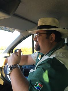 #braaitour member on his way in his sunhat
