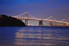 This is The Bay Bridge.  Taken before dawn from Treasure Island by our son.