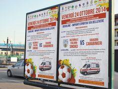 Poster da affissione. Ideazione, progettazione e stampa di poster da affissione e locandine per evento benefico.