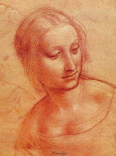 Leonardo Da Vinci: Head of a Woman Musee Bonnat, Bayonne