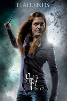 Ginny Weasley by LifeEndsNow - Harry Potter and the Deathly Hallows Part 2 Ginny Weasly, Hp Movies, Deathly Hallows Part 2, Harry Potter Wizard, Bonnie Wright, Harry Potter Pictures, Harry Potter Aesthetic, Female Characters, Hogwarts