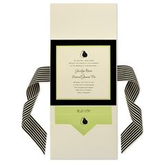 6 x 6 Vertical Folio Pocket Wedding Invitations - 3 Layers by MyGatsby.com